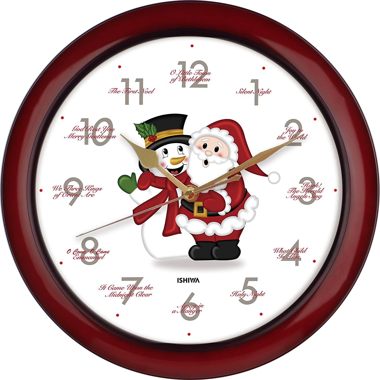 Amazon splendid 14 inch 12 song of carols of christmas warm amazon splendid 14 inch 12 song of carols of christmas warm santa claus snowman melody wall clock sweep silent quartz home wall deco clock ss amipublicfo Images