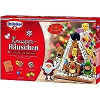 Dr. Oetker Knusper-Häuschen: Lebkuchenhaus und Dekorierset zum Basteln und Verzieren für die Weihnachtszeit - 1er Pack 403 g