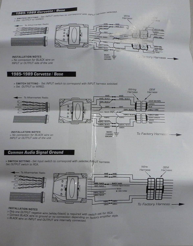 amazon com 4 channel hi low speaker line level converter factory  pac soem  t wiring diagram