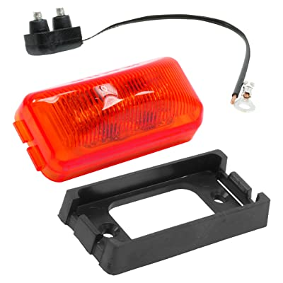 "Vehicle Safety Manufacturing 1561K Red 2.5"" Rectangular 4-Diode LED Lamp Kit (Red Lens): Automotive"