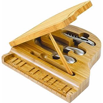 Amazon Com Guitar Shaped Bamboo Cutting Board Kitchen