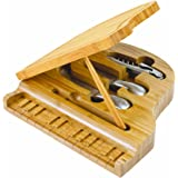 Picnic Time Piano Bamboo Cheese Board/Tool Set, 9-Inch