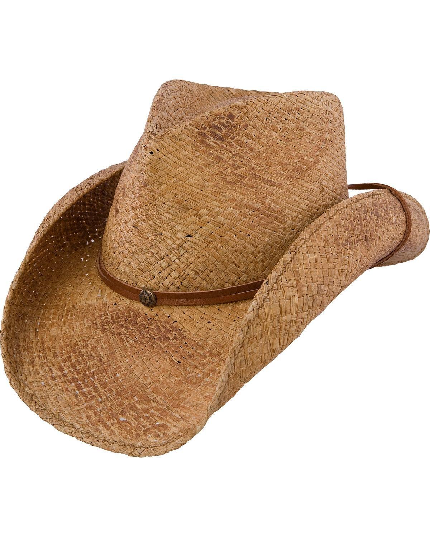 Charlie 1 Horse Unisex Pacifico Straw Cowboy Hat Tea Large