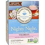 Traditional Medicinals, Organic Nighty Night Tea, Valerian, 16 Wrapped Tea Bags, .85 oz (24 g) - 2pc