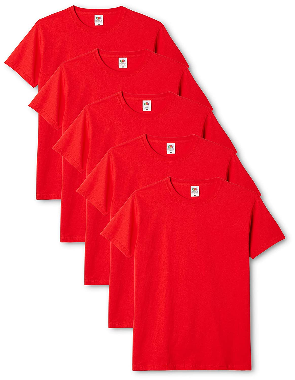 Fruit of the Loom Original T Pacco da 5 T-Shirt Uomo
