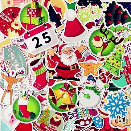AhaSky Pegatinas-100pcs, Navidad Mejor Vinilo de Las Etiquetas ...