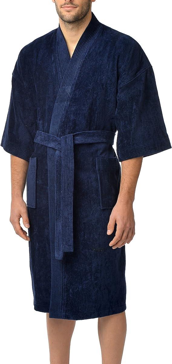 Majestic International mens Basic Terry Velour Shawl Robe