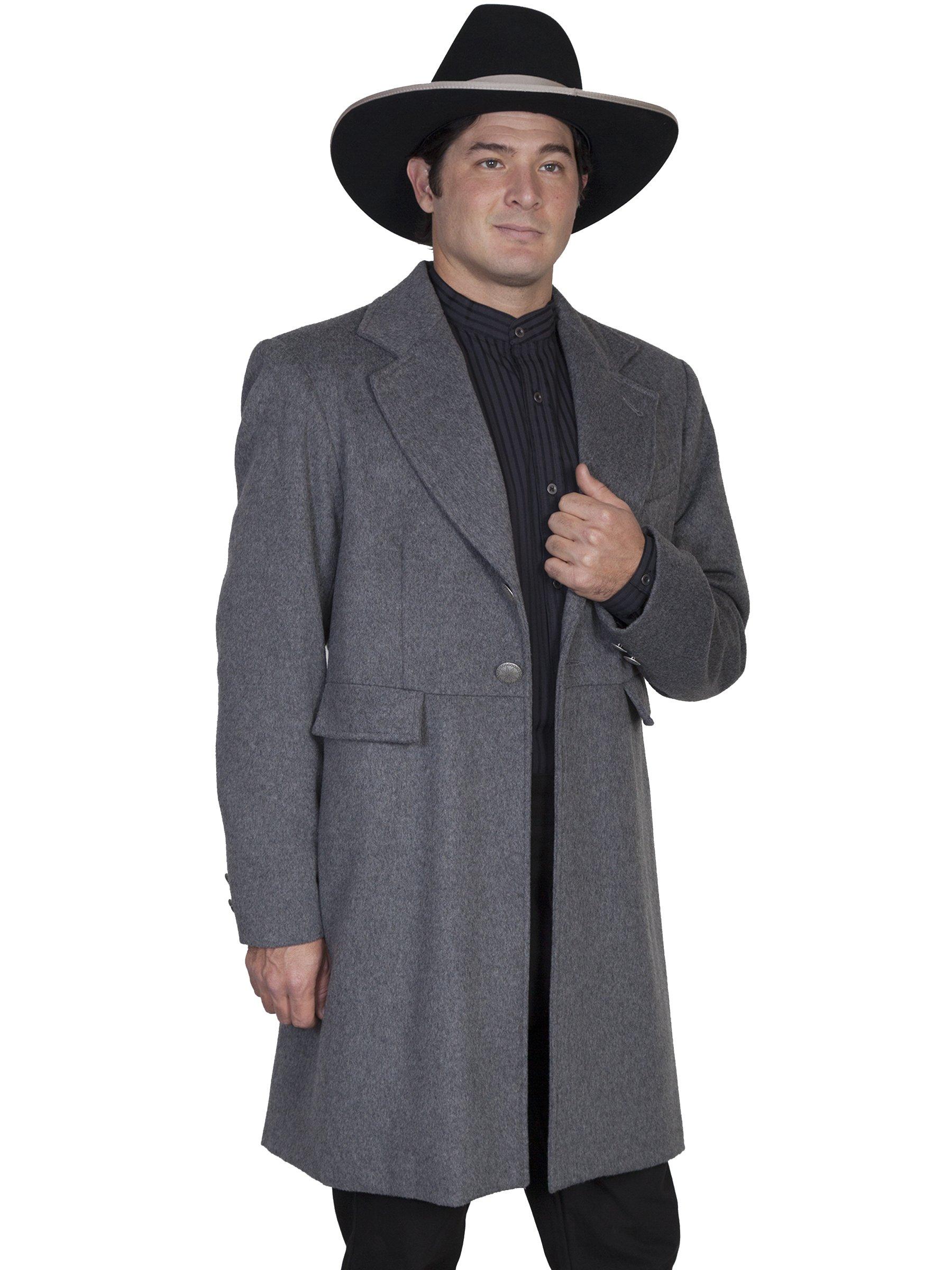 WahMaker by Scully Men's Old West Wool Blend Frock Coat Charcoal Grey 52