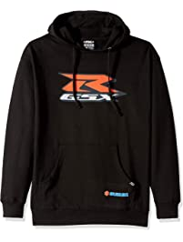 Factory Effex 15-88412 Suzuki 'GSXR' Hooded Pull-Over Sweatshirt (Black, Large)