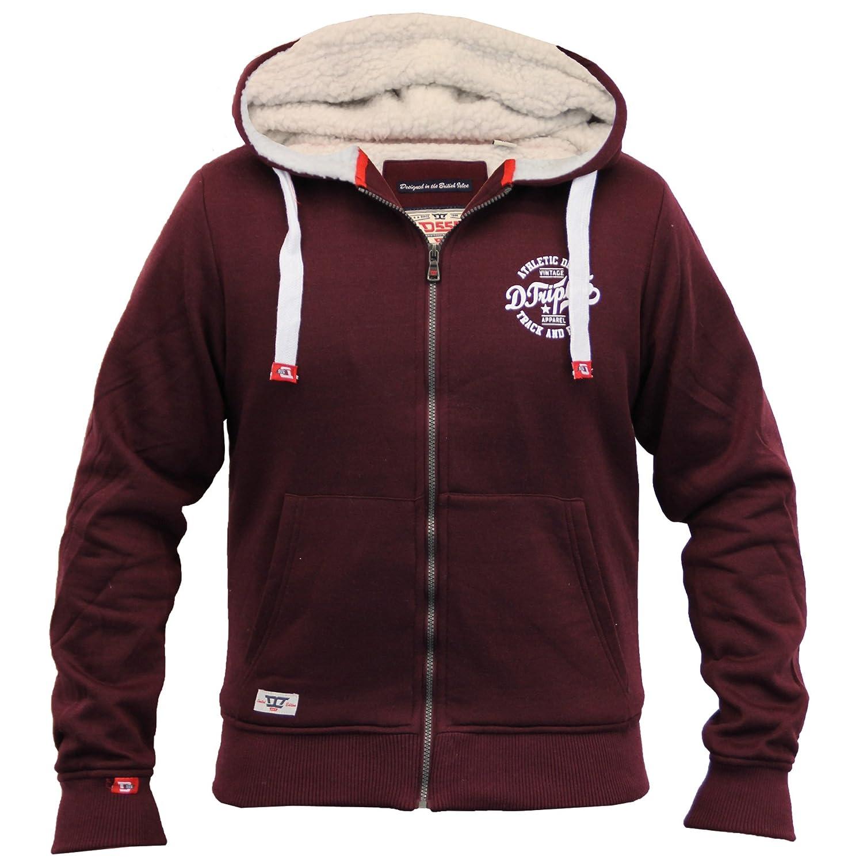 Mens Jacket D555 Duke Sweat Coat Hooded Big King Size Sherpa Fleece Lined Winter