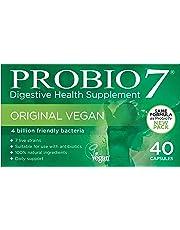 Probio7 Original Vegan | High Quality Vegan Probiotics | 7 Live Strains | 4 Billion CFU and 2 Types of Prebiotic Fibre