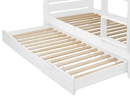Etagenbett Kiefer Weiß : Etagenbett hochbett kevin massiv kiefer weiss teilbar in