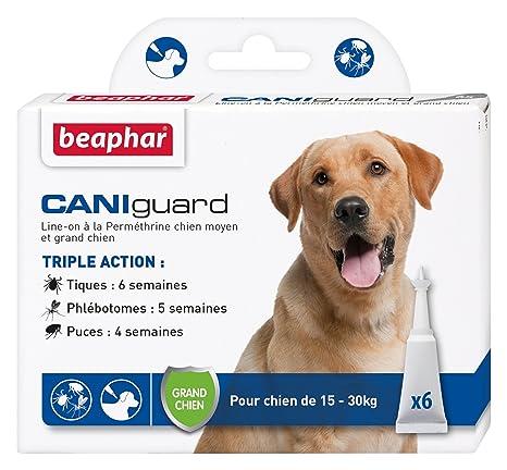 Beaphar – CANIguard, pipetas antiparásitos, antipulgas, antigarrapatas y antiflebotomos
