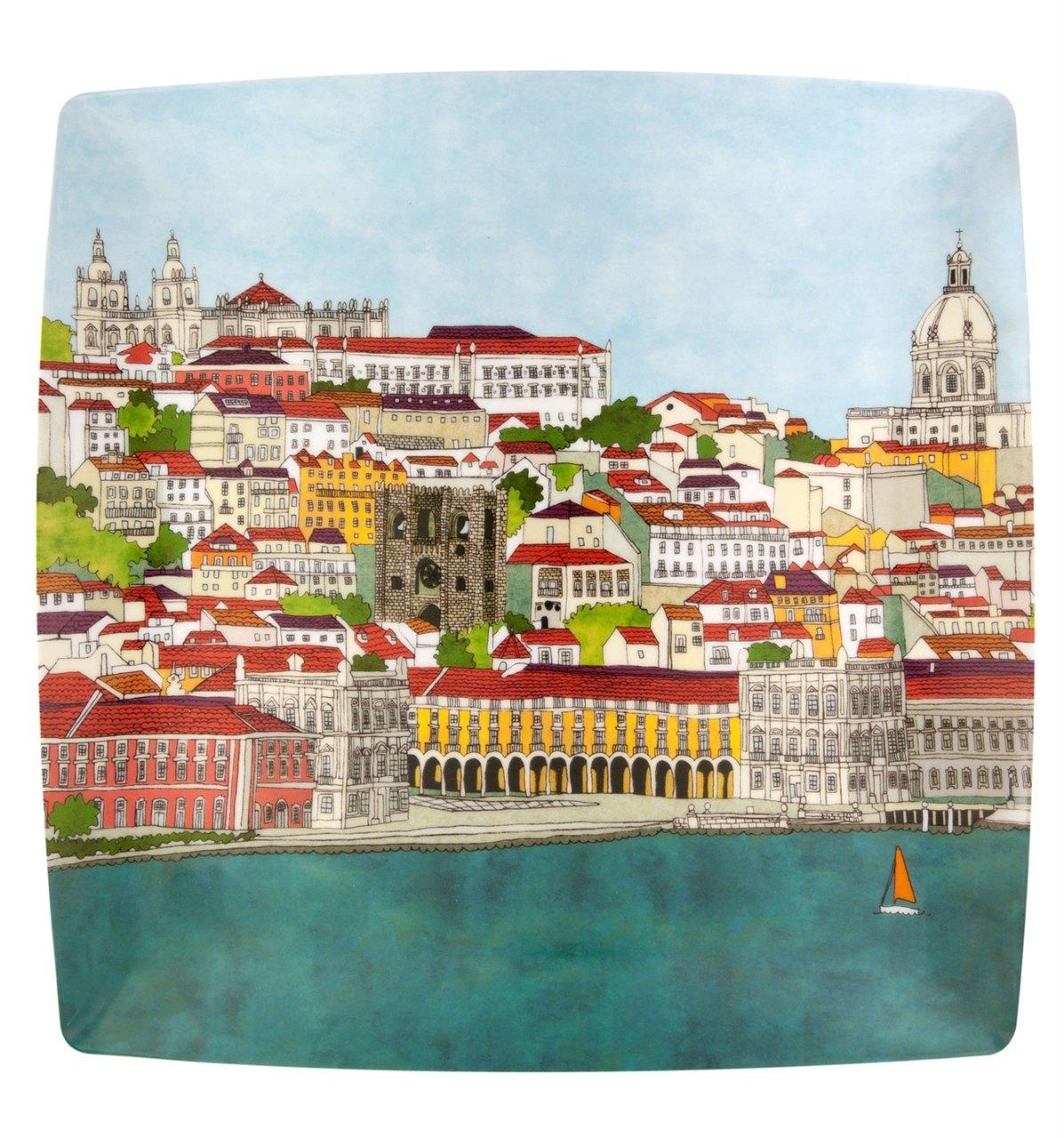 Vista Alegre Soul of Lisbon Porcelain Charger Plate Made in Portugal