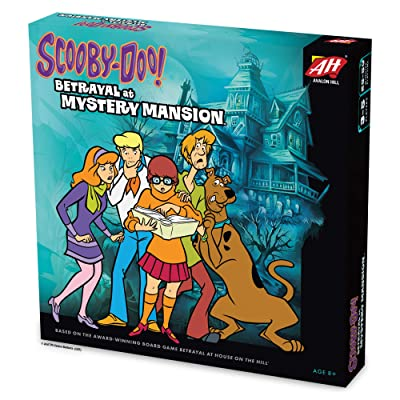 Avalon Hill Scooby Doo in Betrayal at Mystery Mansion | Official Scooby Doo + Betrayal at House on The Hill Board Game | Ages 8+: Toys & Games