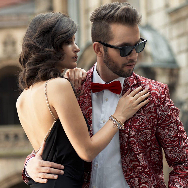 Zircon Stoppers Macrame Bracelet,UHIBROS Multicolor Crystal Unisex Adjustable Fashion Braid Bracelet Beads Braiding Bangle (CZ Charm Bracelet)