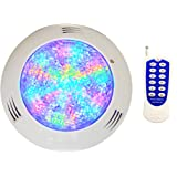 CNBRIGHTER LED Underwater Swimming Pool Lights,18W Windmilling Style RGB Color Changing, 12V AC,Wall Surface Mounted,IP68 Wat