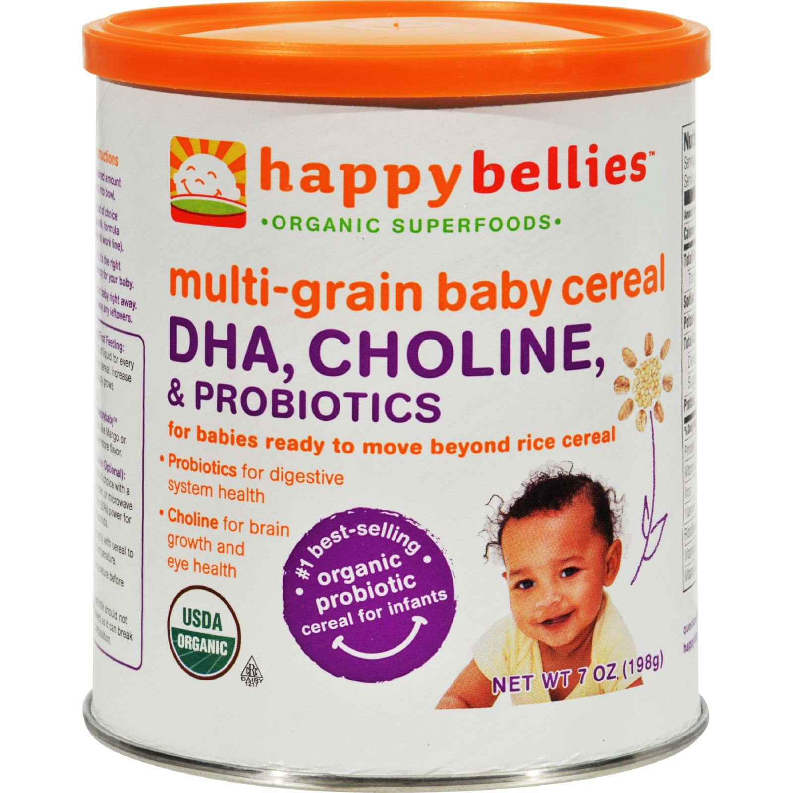 HAPPY BABY HAPPYBELLIES,OG2,MLTGR,CR, 7 OZ by HAPPYBABY