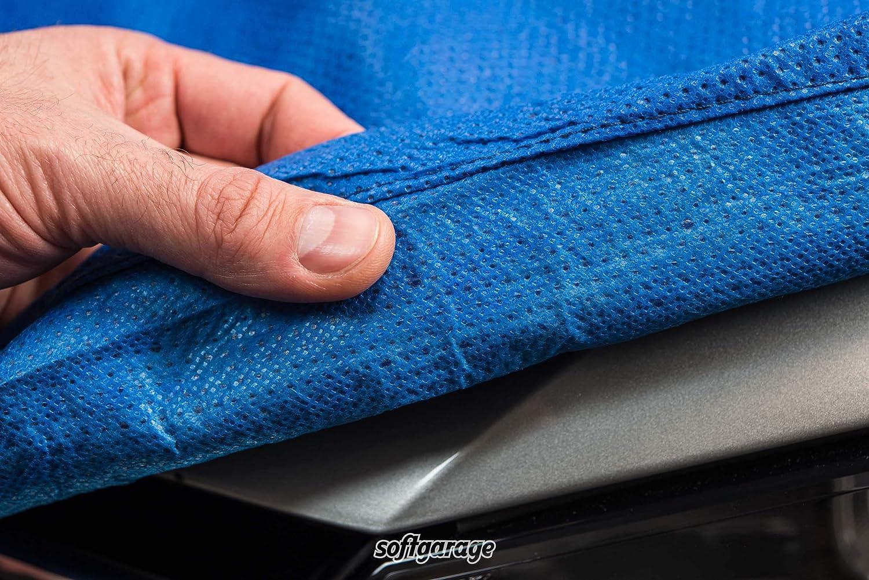 SOFTGARAGE 3-lagig blau Indoor Outdoor atmungsaktiv wasserabweisend Car Cover Vollgarage Ganzgarage Autoplane Autoabdeckung