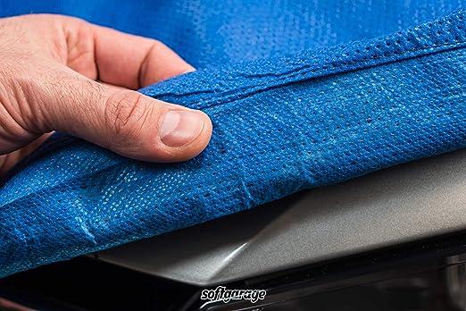 Softgarage 3 Lagig Blau Indoor Outdoor Atmungsaktiv Wasserabweisend Car Cover Vollgarage Ganzgarage Autoplane Autoabdeckung Auto