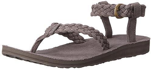 Suede Braid Ankle Strap Sandal