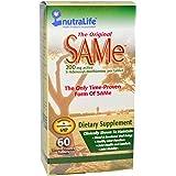 NutraLife, Original SAM-e ( S-Adenosyl-L-Methionine ), 200mg x60 Comprimés Entériques