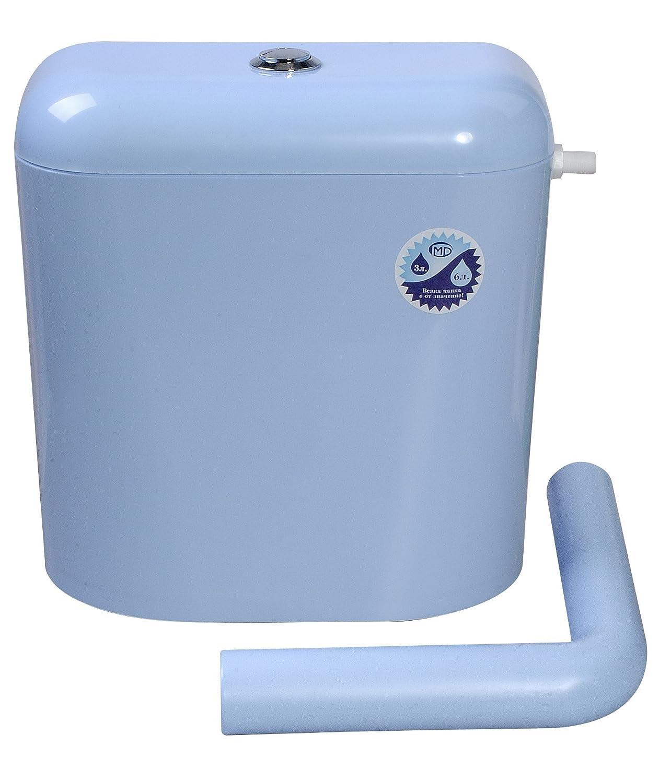 nikiplast - M 697 cisterna de inodoro de plástico con aislamiento y acoplamiento fijo, color azul: Amazon.es: Bricolaje y herramientas