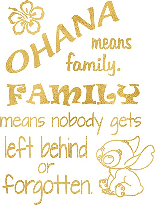 Amazon Com Simply Remarkable Ohana Means Family Inspired By Lilo And Stitch Poster Print Photo Quality Made In Usa Disney Inspired Home Art Print Frame Not Included 8x10