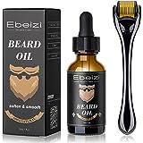Ebeizi Beard Roller, Derma Roller for Men's Beard Growth, Beard Growth Vitamins Serum, Derma Roller for Men, Stimulate…