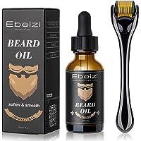 Ebeizi Beard Roller, Derma Roller for Men's Beard Growth, Beard Growth Vitamins Serum, Derma Roller for Men, Stimulate Beard and Hair Growth