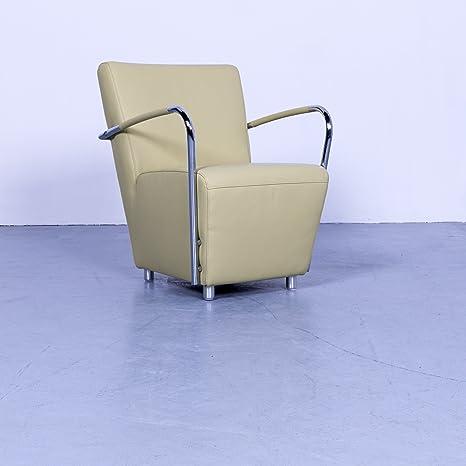 koinor - Silla de piel color verde lima monoplaza silla piel ...