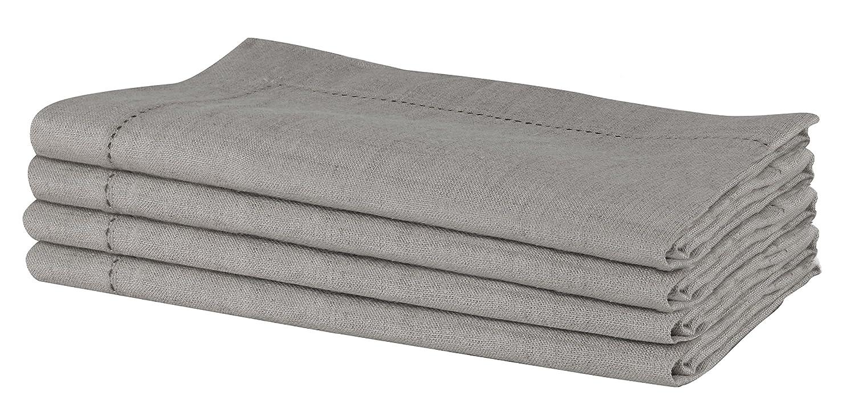 Sweet Needle SweetNeedle – Paquete de 12 servilletas de encaje de lino 100% puro hechas a mano 50 cm x 50 cm (20 in x 20 in), en color natural, Lino, natural, 4 unidades