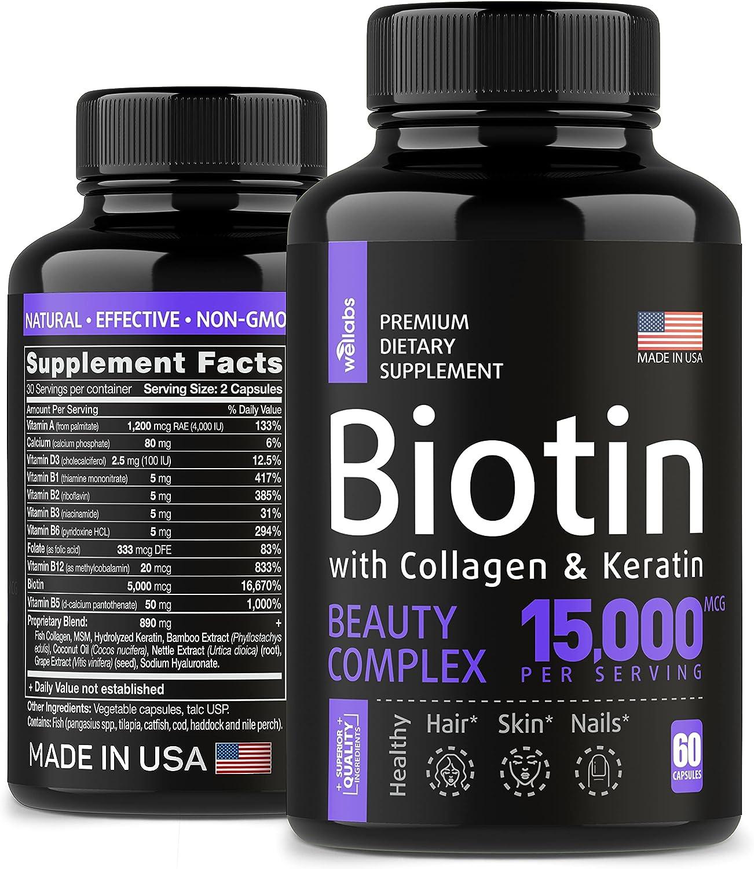 WELLABS Keratin & Collagen Pills Biotin $14.00 Coupon