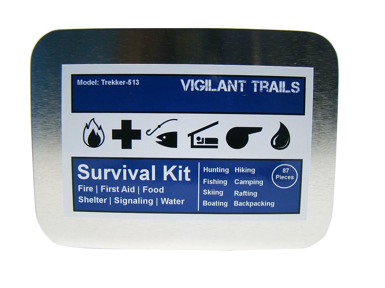 Squishy survival 9 - Amazon Com Vigilant Trails Survival Kit Model Trekker 513 Camping First Aid Kits Sports Outdoors