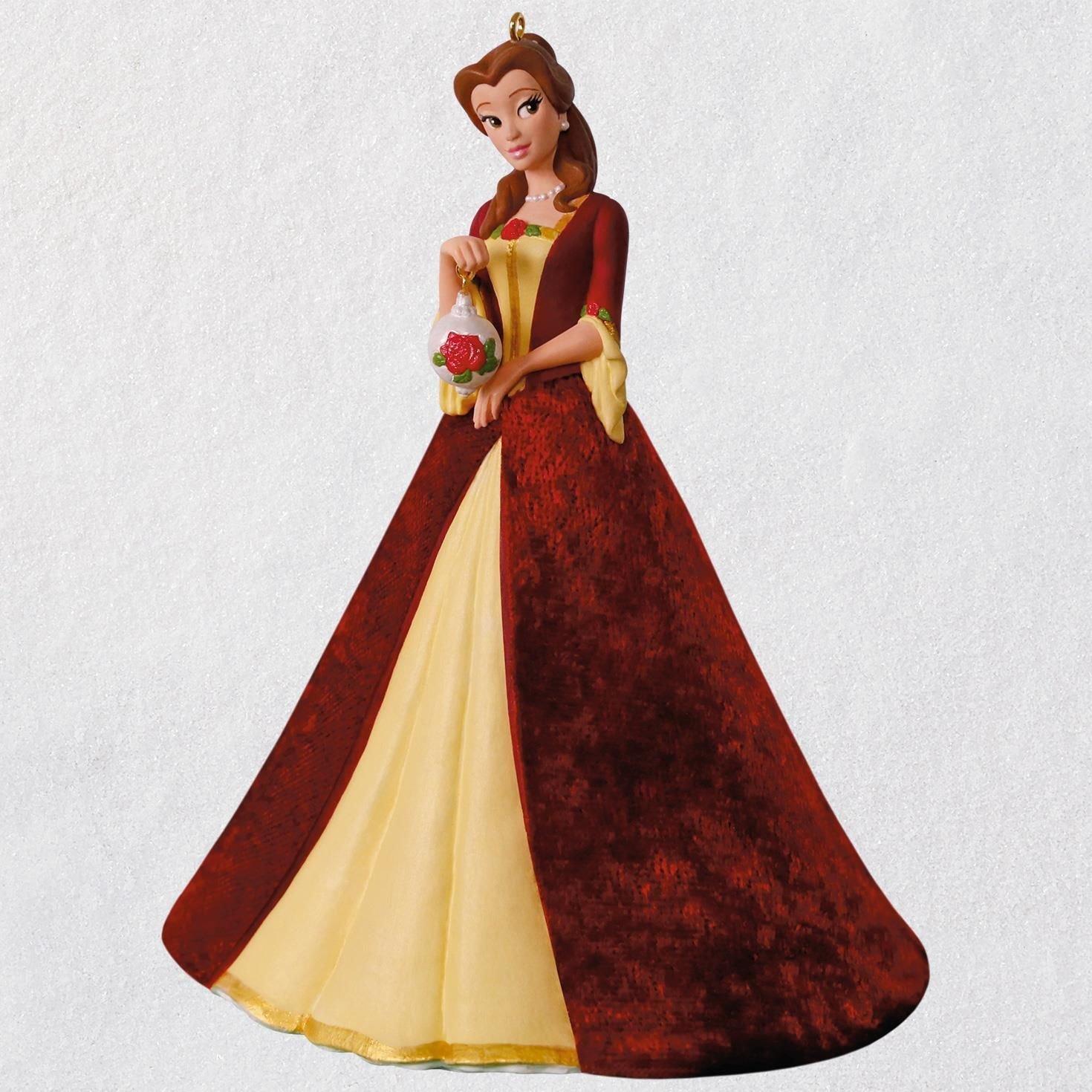 Hallmark Disney Beauty and the Beast Christmas Belle Porcelain Ornament keepsake-ornaments Movies & TV