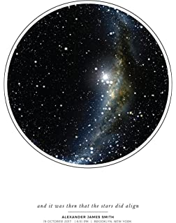 Amazoncom My Sky Moment Map Of The Night Sky White Posters Prints - Star map from my location