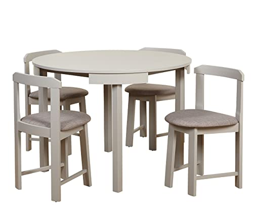 Target Marketing Systems Zuma Collection Compact Set 5-Piece Round Nesting Dining Table Chair
