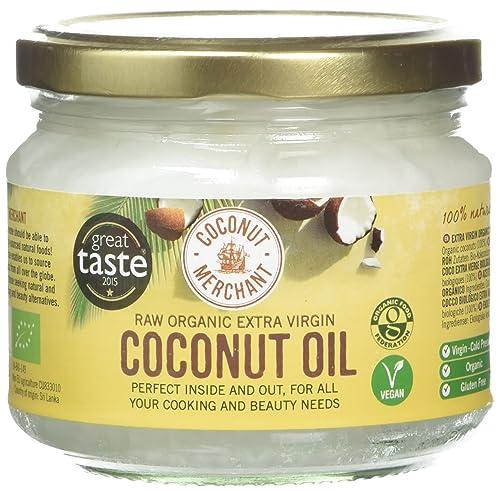 Coconut Merchant Organic Raw Extra Virgin Oil, 300ml