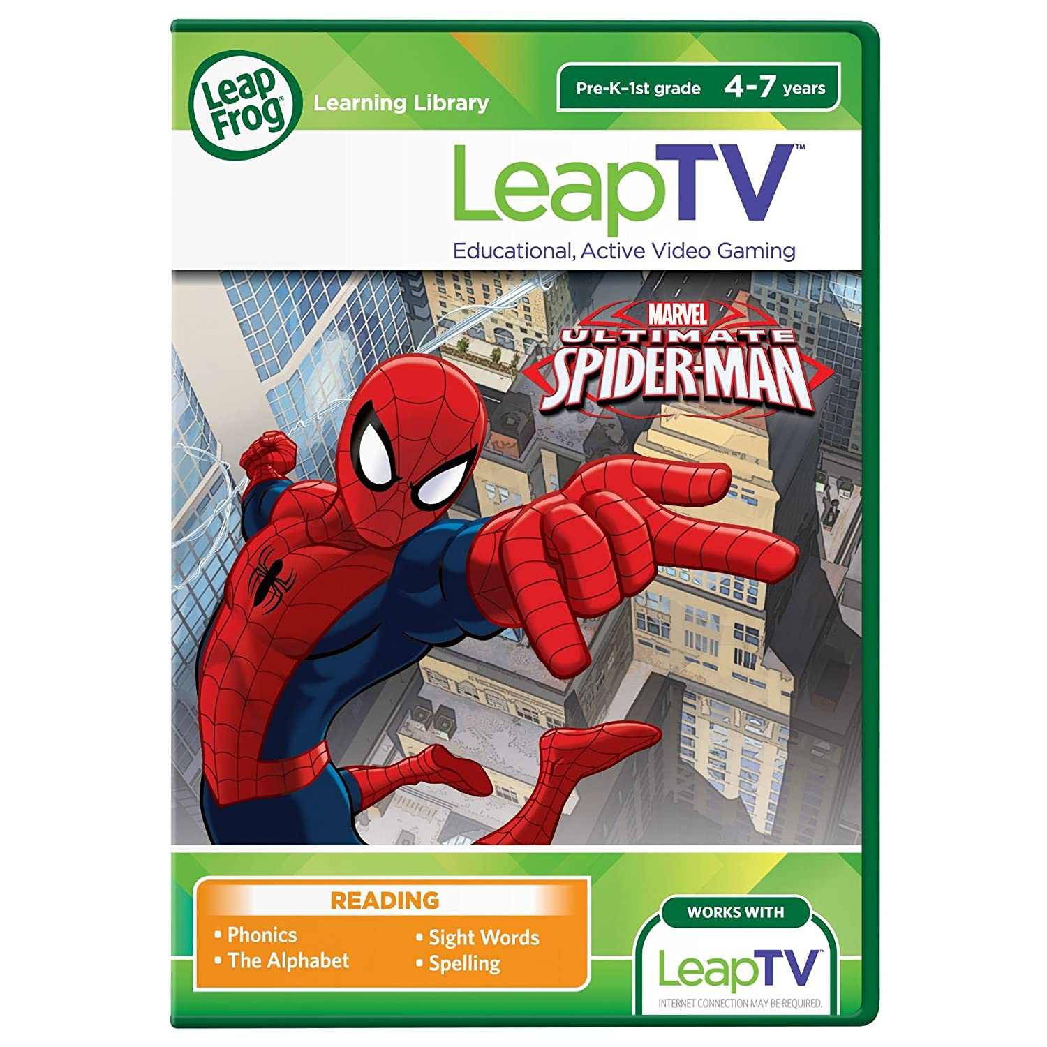 Amazon.com: LeapFrog LeapTV Ultimate Spider-Man Educational ...