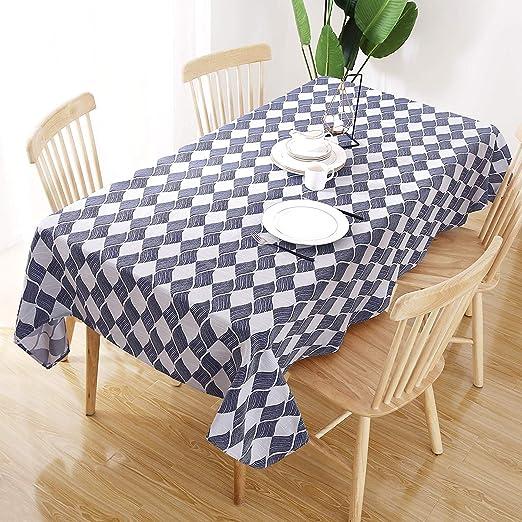 Deconovo Manteles Mesa Cocina Jacquard Mantel Impermeable ...