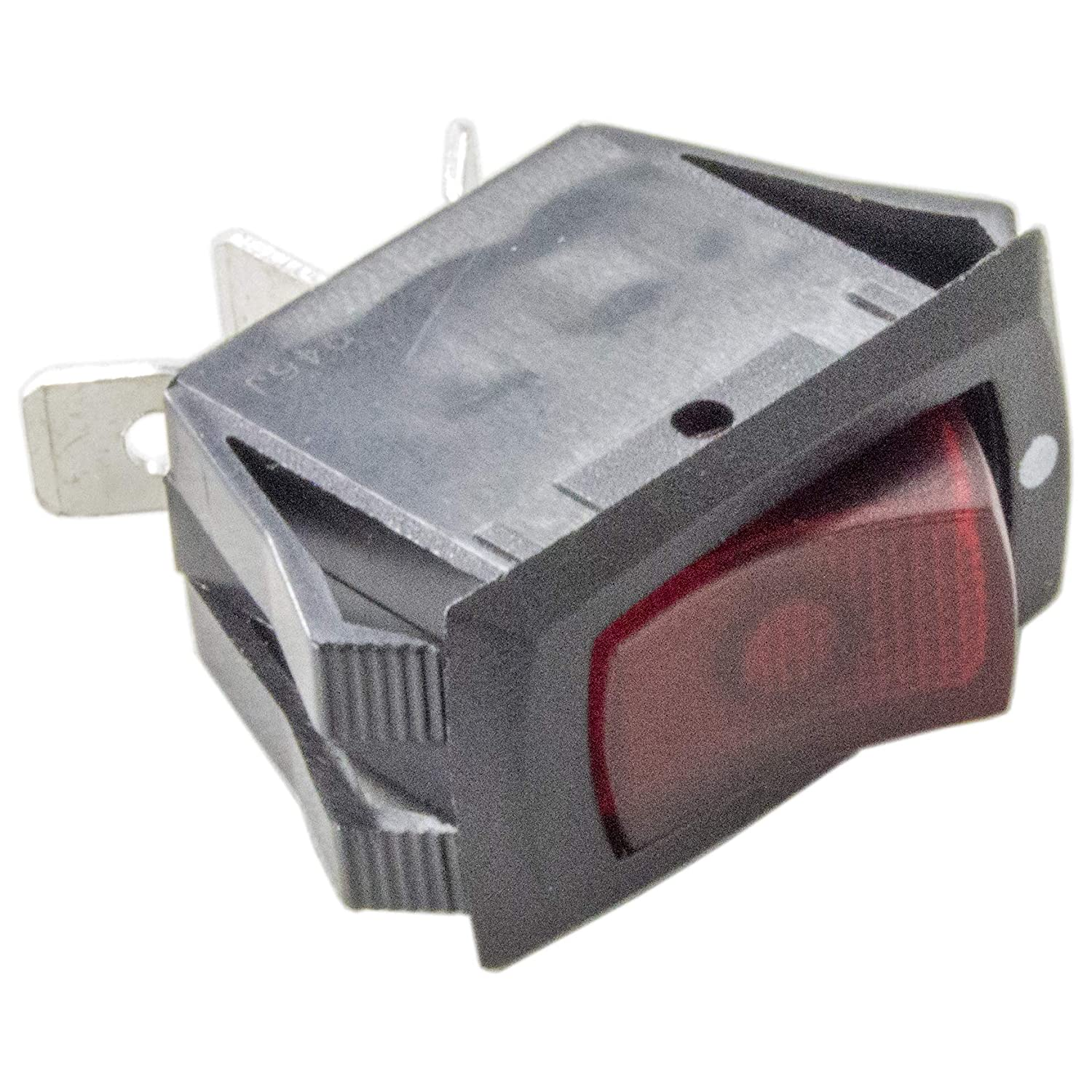 Useful Large On-Off Rectangle Rocker Switch DPST 250VAC 15A 31*25mm 5pcs IN9Z