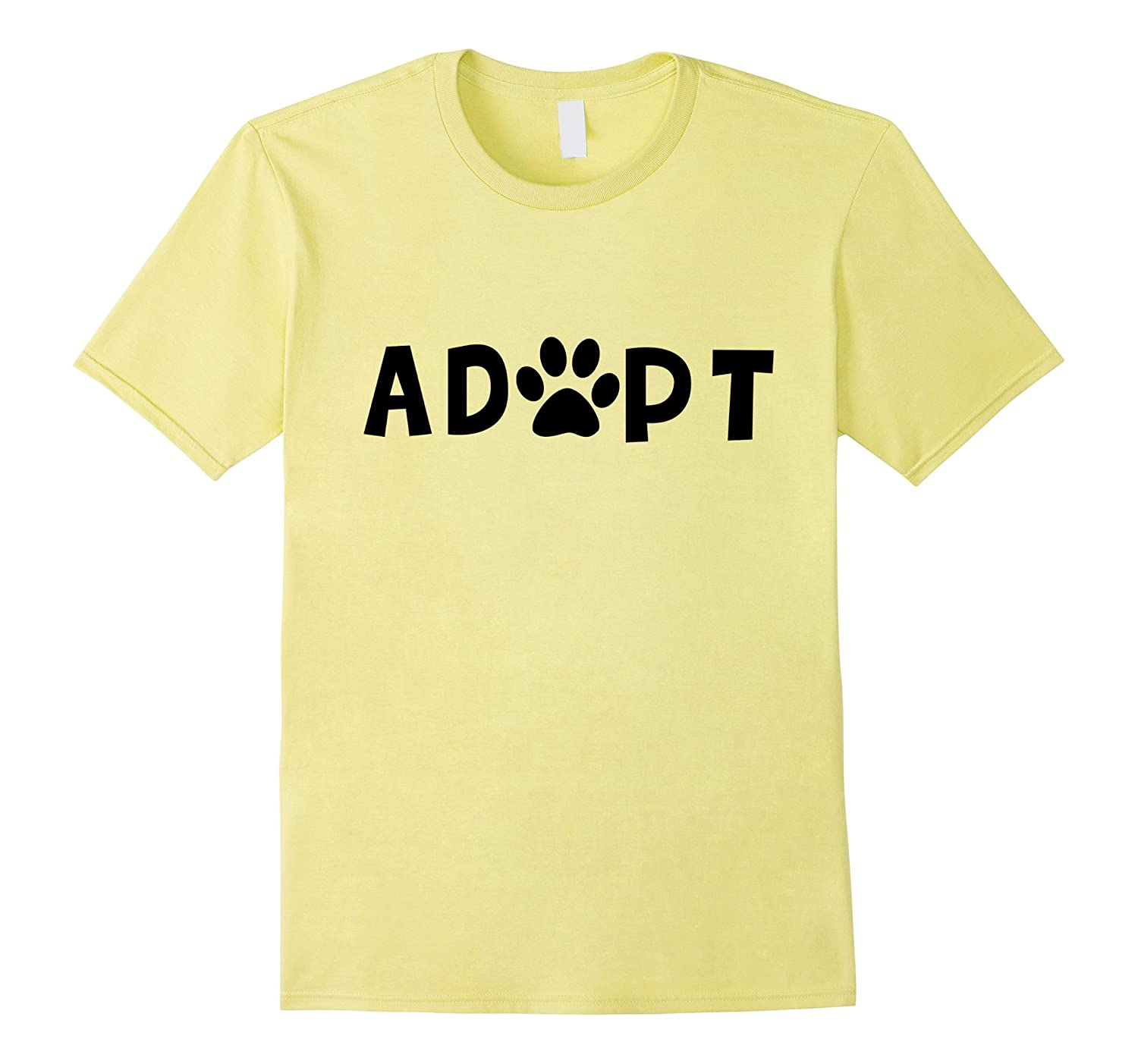 4f4d07fe7961 Adopt Dog or Cat Pet Rescue Animal Shelter Adoption T-Shirt-TH - TEEHELEN
