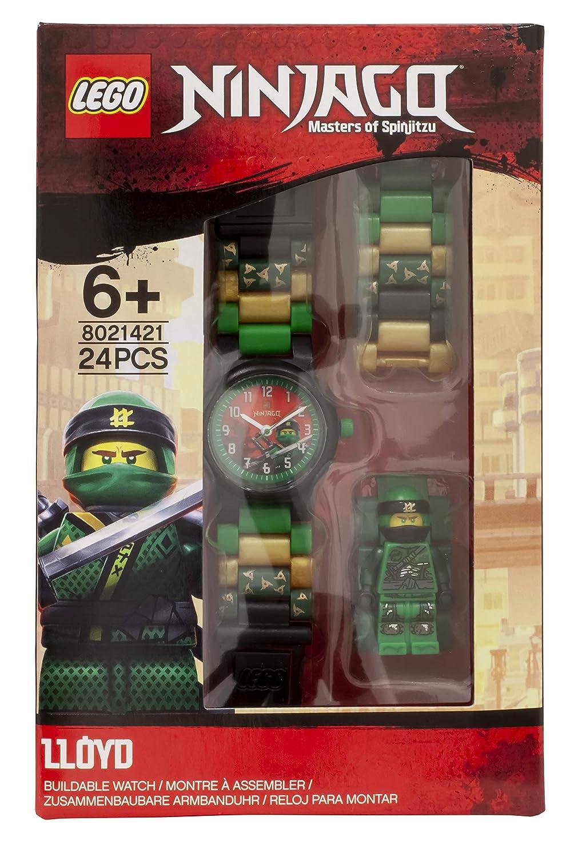 Amazon.com: LEGO Watches and Clocks Boys Ninjago Lloyd Quartz Plastic Casual watch, Color:Green (Model: 8021421): Watches