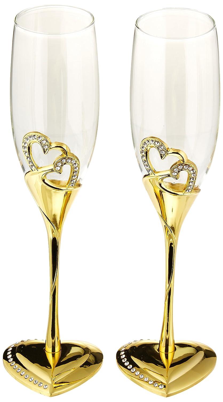 Unik Occasions Stunning Wedding Toasting Flutes/Champagne Glasses UO-TG-CS-3171GA