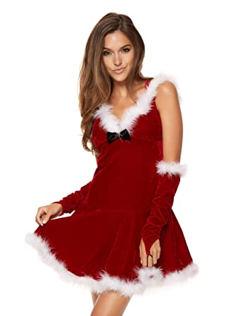 d4baf2434ae Ann Summers Womens Miss Hooded Santa Sexy Christmas Costume Outfit Fancy  Dress