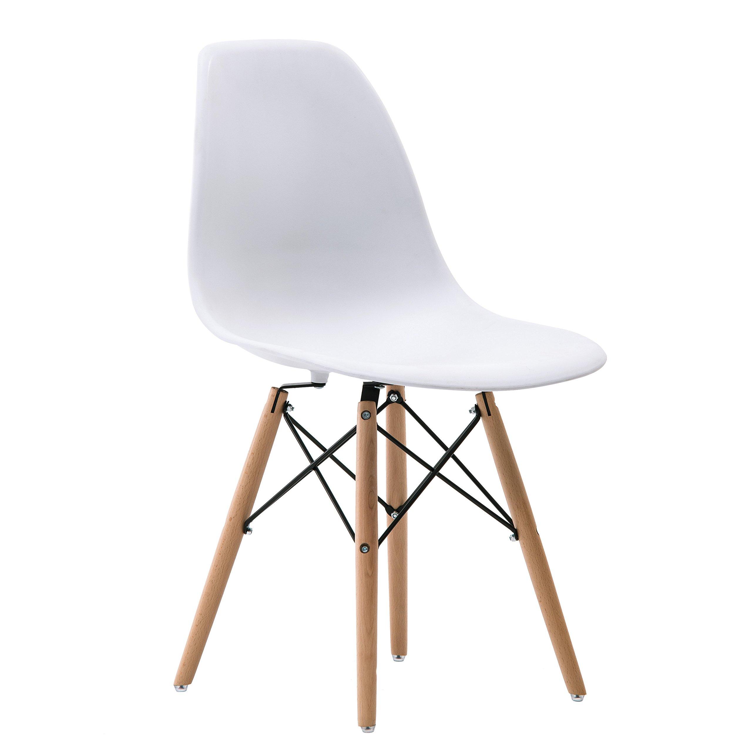 Porthos Home April Mid-Century Eames Chair, White