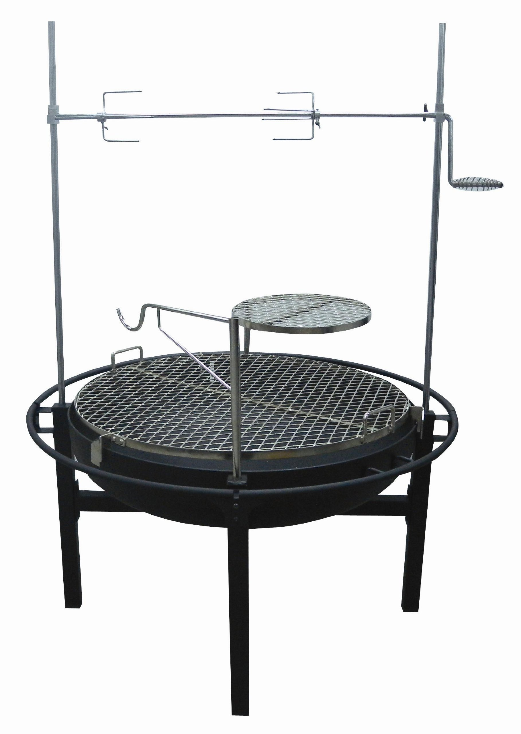Rancher Fire Pit Charcoal Grill with Rotisserie, 31-Inch