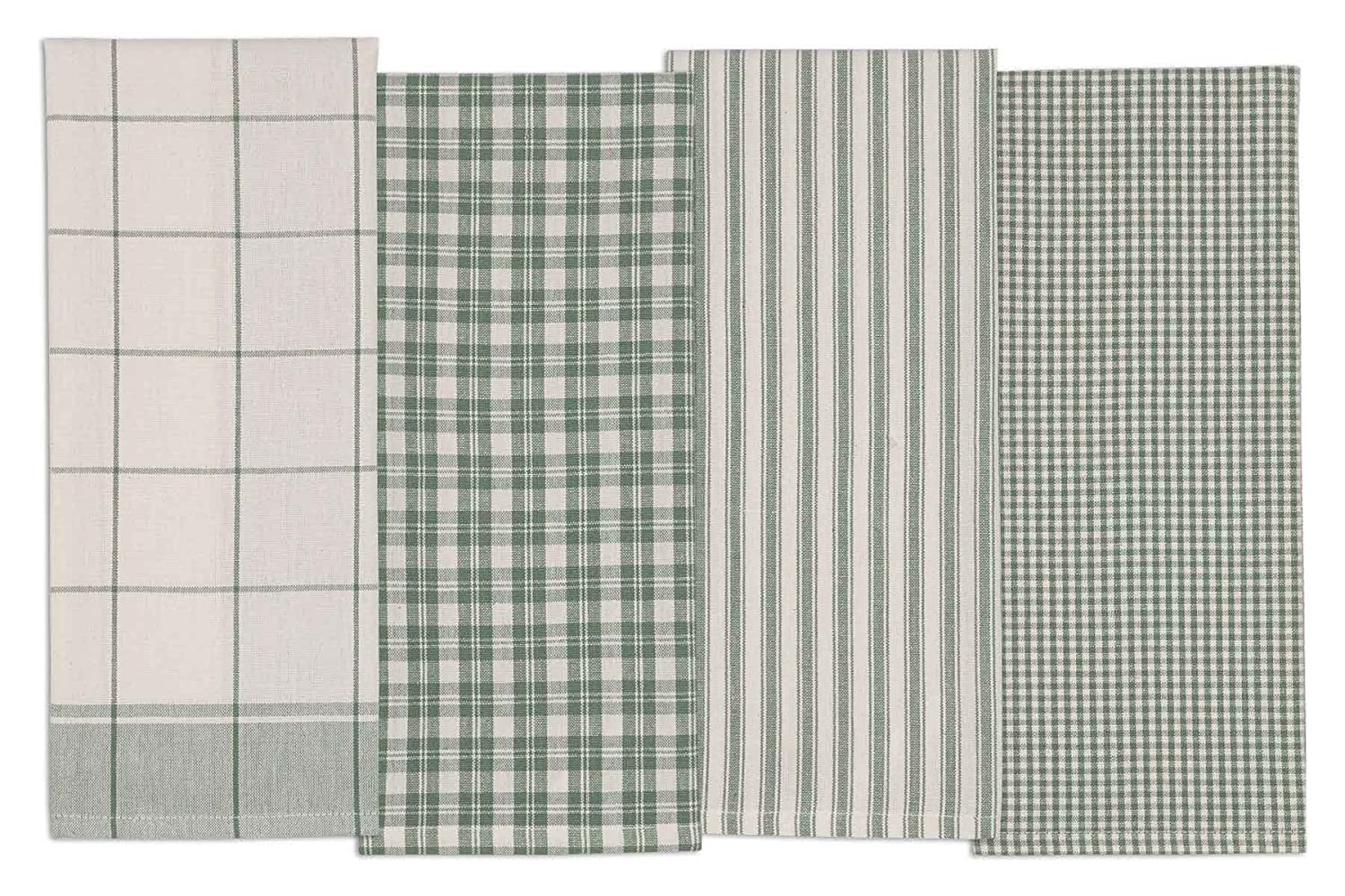 DII COSD35161 Cotton Dish, Set of 4, Decorative Oversized Towels, Perfect for Every Day Home Kitchen, Holidays and Housewarming Gifts, 18x28 Sage