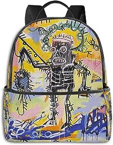 Jean Michel Basquiat Fashion Laptop Backpack Fashion Theme School Backpack