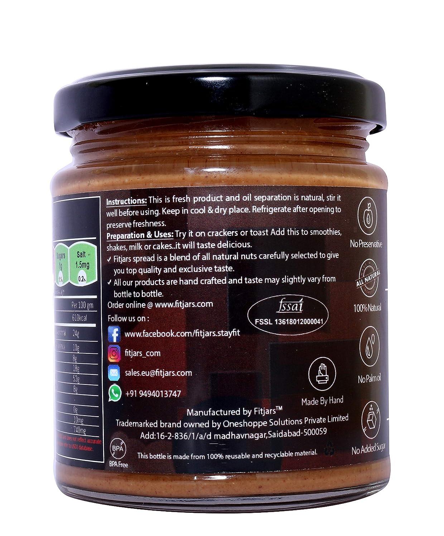Mantequilla de almendras Fitjars con chocolate oscuro -200g℮: Amazon.es: Alimentación y bebidas